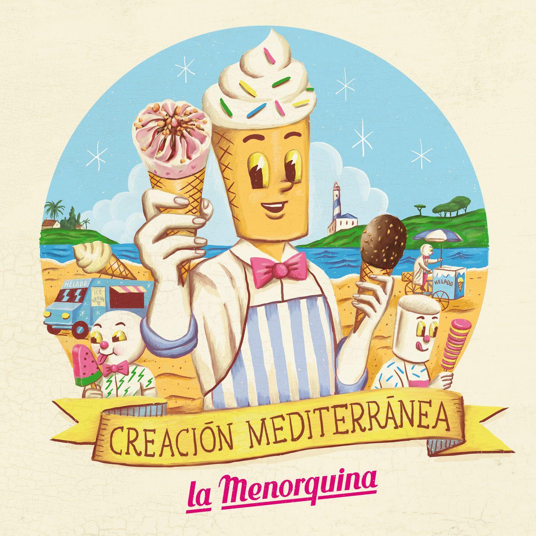 Creación de contenido con ilustradores para La Menorquina